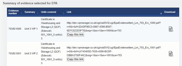 e-portfolio VQmanager